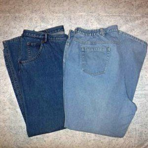 2 Pair Elizabeth Jeans, size 22W